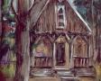 Kościół drewniany w Dębkach (rys.Marek Nowak-1998)