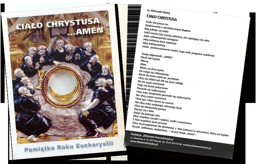 Modlitwa - ciało Chrystusa