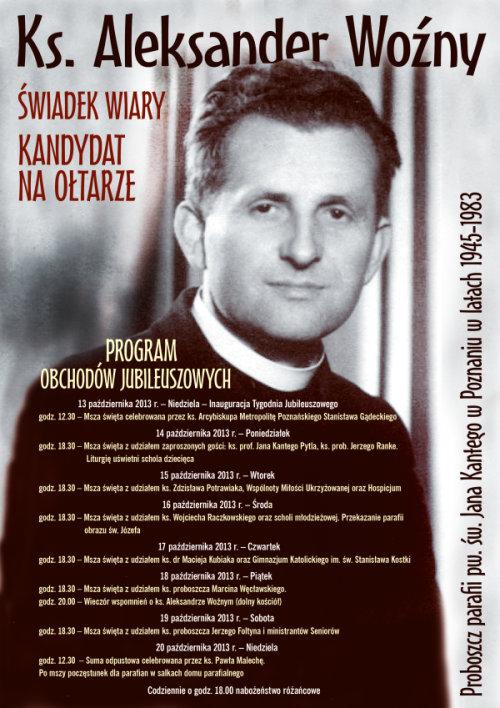 Plakat obchodów jubileuszowych
